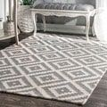 nuLOOM Handmade Abstract Wool Fancy Pixel Trellis Rug (4' x 6') - Free Shipping Today - Overstock.com - 19042589 - Mobile
