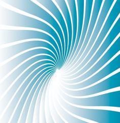 blue twisted sunburst