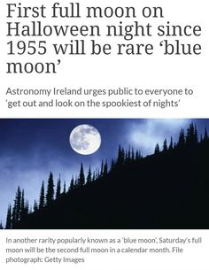 Blue Moon on Halloween...