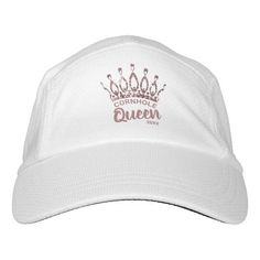 Let them know you're the Cornhole Queen with this cute custom hat featuring a chic and trendy rose gold glitter crown. Personalize it with your own phrase and date. Feel free to contact me if you need help or a custom order.