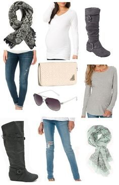 Casual maternity outfits for fall at MotherhoodCloset.com for under $15!