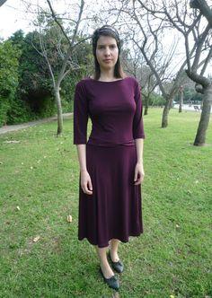 Palm dress modest dress modest chic modest look by TAMAR LANDAU,