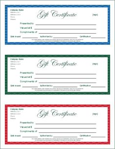 Blank Gift Certificates Saving Money Pinterest Free Printable - Free online gift certificate templates