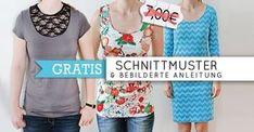 T-Shirt, Kleid und Tanktop 'Valerie' Größe XS - 4XL - Nähanleitung und Schnittmuster - Schnittmuster und Nähanleitungen bei makerist