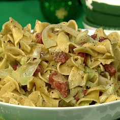 The Chew: Michael Symon's Corned Beef and Cabbage--recipe I make for St. Patrick's Day (I use Deli style corned beef) Cabbage And Noodles, Corn Beef And Cabbage, Beef And Noodles, Cabbage Recipes, Pasta Recipes, Cooking Recipes, Green Cabbage, Egg Noodles, Cabbage Patch