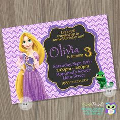 Rapunzel invitation tangled invitation tangled birthday invitation rapunzel invitation tangled invitation tangled birthday invitation rapunzel birthday princess invitation disney princess birthday pinterest stopboris Images
