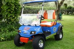 9 Tricked Out Golf Carts for your Next Tailgate | Gator Tailgating #gator #gameday #golfcart