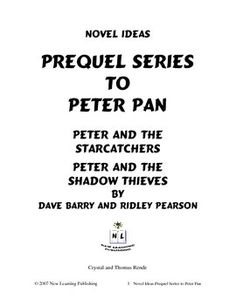 peter pan lesson plans peter pans short essay and learning styles novel ideas d barry and r pearson s prequel series to peter pan