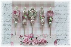 Mini Matchbook Stick Pins for Scrapbooking,Cardmaking or Mini Albums, Pretty in Pink