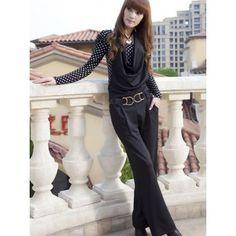 Korean Fashion Women Pure Color Natural Waist Jumpsuit