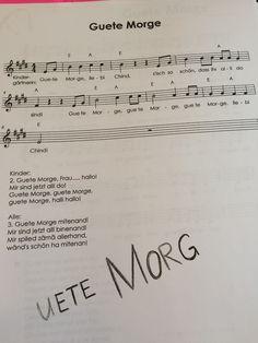 Guete Morge Verse, Sheet Music, Writing, Books, June, Organisation, School, Music, High School Graduation