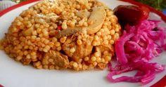 Mennyei Gombás, húsos tarhonya recept! A mai ebédünk volt. Nagyon ízlett nekünk. Chana Masala, Vegetables, Ethnic Recipes, Food, Vegetable Recipes, Eten, Veggie Food, Meals, Veggies