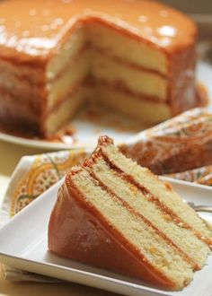 Real Deal Caramel Cake- the best caramel cake you will ever taste! Period!