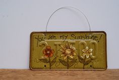 Hand Painted License Plate Art Spring Country Home by Ramshackles