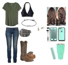 Designer Clothes, Shoes & Bags for Women Cute Cowgirl Outfits, Country Style Outfits, Southern Outfits, Rodeo Outfits, Country Fashion, Cute Comfy Outfits, Western Outfits, Country Wear, Teenager Outfits