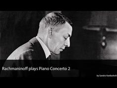 ▶ Sergei Rachmaninoff plays his Piano Concerto No. 2 - YouTube -- Judellen comment: My absolutely end all favorite piece of music, played by the composer himself! Thank you YouTube!