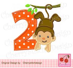 Birthday Monkey With Number   Digital