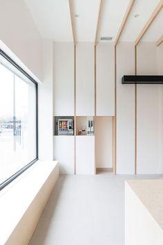 Hekla / Architecture / Interieur / Analabo / Laboratoire d'analyses / Bordeaux / Bois / Accueil / Mobilier / Rangement / Medical / Trame / Ossature bois