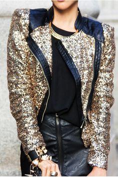 1ead335ce603d3 loooooove the jacket - Gold-haute-rebellious-jacket-black-haute- · Gold Sequin  JacketGlitter ...