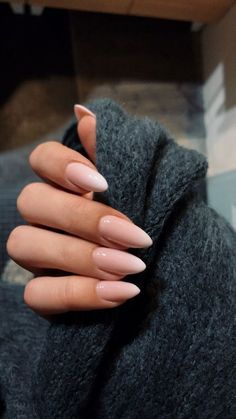 Almond nails for the winter; Nails for . - Almond nails for the winter; Nails for … Check more at Almond Nail Art, Almond Acrylic Nails, Fall Almond Nails, Long Almond Nails, Natural Almond Nails, Almond Shape Nails, Almond Nails Pink, Natural Color Nails, Long Natural Nails