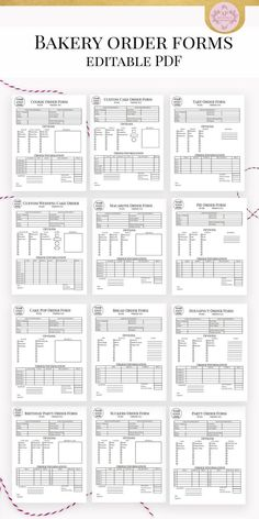 Cake And Bakery Business Planner Financial and Management Printable Forms Recipe Calculator Cupcake Business - Business Plan - Ideas of Tips On Buying A House - Bakery Business Plan, Baking Business, Cake Business, Business Planner, Catering Business, Salon Business, Etsy Business, Business Logo, Business Marketing