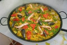Many people have told me that they've experienced disasters with paella recipes mainly due to rice still lying in the water/stock which makes the dish too soggy. I've never had any problem with this dish thanks to the lesson I learned from Emilio at Bar Victoria in Miraflores de la Sierra, a village in the Sierra de Guadarrama just outside Madrid. Emilio invited me into his kitchen and took me through the process step by step and I can honestly say that restaurant paella is never...
