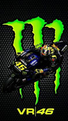 Valentino Rossi Vr46 Monster Energy 2019 En 2020 Voitures Et Motos Fond Ecran Moto Moto Sportive