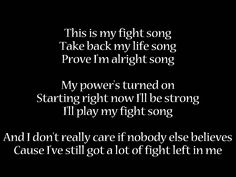 A lyric video to the song Fight Song by Rachel Platten. I am in no way affiliated with the artist/band. This is a fan video. Fight Song Lyrics, Love Songs Lyrics, Song Lyric Quotes, Music Lyrics, My Music, Rachel Platten Fight Song, Fight Song Rachel, My True Love, Lyrics
