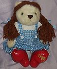 """For Sale - The Cuddle Factory The Wizard of Oz Dorothy Teddy Bear plush stuffed toy 12""""tall"""