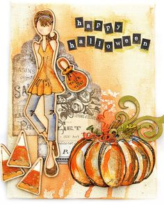 Halloween mini Canvas-- Julie Nutting - scrapbook