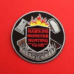 Hawkins Monster Hunting Club - Stranger Things Patch | hand over your fairy cakes