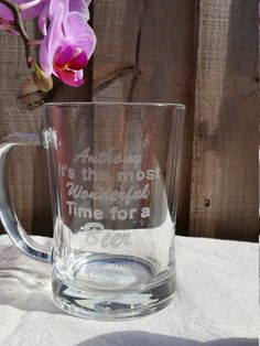 Check out this item in my Etsy shop https://www.etsy.com/uk/listing/266719061/personalised-beer-glass-custom-engraved