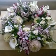 Funeral Flowers - Collections - Google+ Funeral Flowers, Floral Wreath, Wreaths, Liverpool, Collections, Google, Design, Home Decor, Art