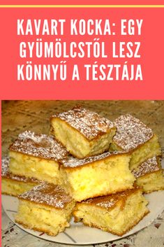 Hungarian Desserts, Hungarian Cake, Hungarian Recipes, Garlic Bread, Cake Cookies, Apple Pie, Tofu, French Toast, Healthy Living