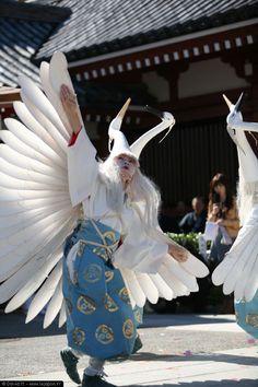 Danse du héron au Tokyo Jidai Matsuri festival
