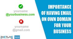 Are you using a free email service for your business like Gmail or yahoo? Read our new blog to understand how it is negatively affecting your business and how you can benefit by getting an email on domain of your business website :) https://blog.znetlive.com/why-email-on-your-own-domain-name-is-important-for-your-business/