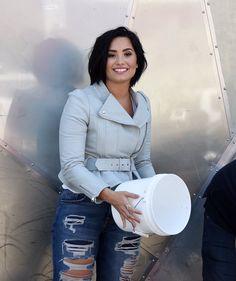Demi Lovato filming for Carpool Karaoke on Melrose Avenue - April 28th