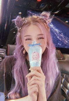 Kawaii Hairstyles, Ponytail Hairstyles, Cute Hairstyles, Hair Inspo, Hair Inspiration, Pony Korean, Korean Hair Color, Candy Hair, Cute Girl Face