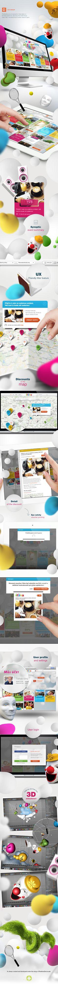 Great deals and discounts portal by CEZ by PositiveZero.co.uk , via Behance