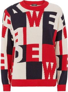 Max Mara Patchwork Letters Weekend Sweater