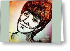 Cilla Greeting Card by Joan-Violet Stretch