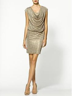 Oh gold, why don't I look good in you?  MM Couture Slub Jersey Cowl Dress | Piperlime