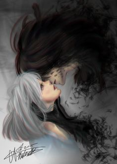 """Embracing the Darkness by Arisamon.deviantart.com on @DeviantArt - Sophie and Howl from Miyazaki's """"Howl's Moving Castle"""""""