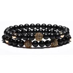Buddha Bracelet for Women and Mens 2pcs - Beaded Bracelet, Bracelets for men, beads wristband