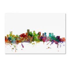 Michael Tompsett 'Boston Massachusetts Skyline' Wall Art