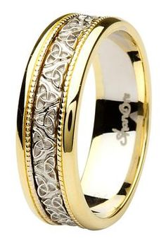 ShanOre Aishlin Yellow Gold Collection Men\'s Celtic wedding band