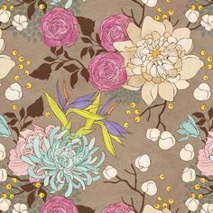 flowers by carivna , via Behance