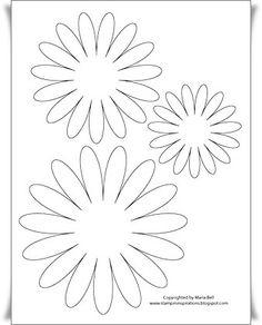 Large Daisy Petal Template | Printable Flower Daisy 8 petal ...
