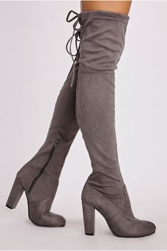 6b51a444685 Remi Faux Suede Over the Knee Heeled Boots Heeled Boots