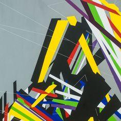 Virtuální prostory [8] - akryl, olej na plátně (120 x 120 cm) 2016